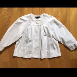 Theory Cropped White Jacket